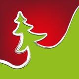 A natal-árvore do fundo do Natal afaga o símbolo Fotos de Stock Royalty Free