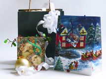 Natal 2 de compra Fotos de Stock Royalty Free