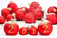 Natal 2012 baubles Fotografia de Stock Royalty Free
