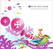 Natal _5 abstrato Foto de Stock Royalty Free