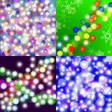 Natal abstrato 4 fundos Imagens de Stock