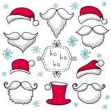 Natal ajustado com Santa Claus Imagens de Stock Royalty Free
