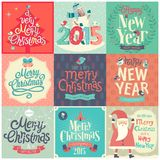 Natal ajustado - etiquetas Imagens de Stock Royalty Free