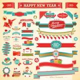 Natal ajustado - fitas do vintage, ilustração do vetor