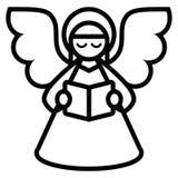 Natal Angel Isolated On White Background dos desenhos animados ilustração do vetor