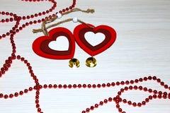 Natal, ano novo e dia do ` s do Valentim do St Dois coloridos ele Foto de Stock