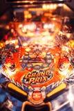 Natal Arcade Machine do pinball fotografia de stock royalty free