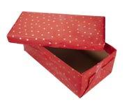 Natal atual do aniversário do pacote da caixa do vermelho Fotografia de Stock Royalty Free