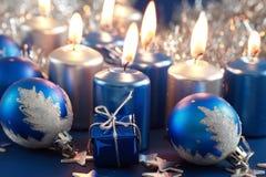 Natal azul imagens de stock