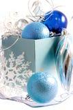 Natal azul Fotografia de Stock Royalty Free