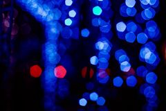 Natal azul do mery do bokeh da festão do brinquedo do Natal Fotos de Stock