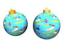 Natal Ball_Raster_ Imagem de Stock Royalty Free