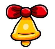 Natal Bell dourado grande mágico ilustração stock