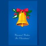 Natal Bels com curva e bagas feriado Fotos de Stock Royalty Free
