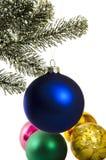 Natal Bolas festivas Fotos de Stock Royalty Free