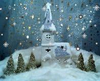 Natal branco Foto de Stock Royalty Free