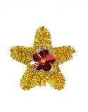 Natal brilhante da estrela isolado no branco Foto de Stock