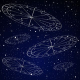 Natal charts astrology background. With starry sky Stock Image