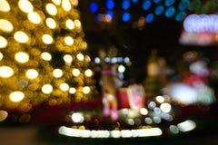 Natal colorido de Bokeh & ano novo feliz fotos de stock royalty free
