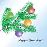 Natal com as bolas no fundo ilustração royalty free