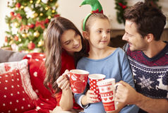 Natal com família Fotos de Stock