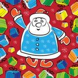 Natal com teste padrão sem emenda multicolorido Imagens de Stock Royalty Free