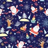 Natal com textura de Papai Noel ilustração royalty free