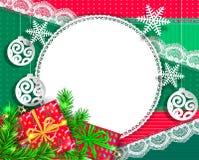 Natal congratulatório brilhante do projeto fotos de stock