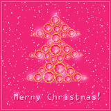Natal cor-de-rosa Diamond Tree Fotografia de Stock Royalty Free