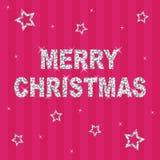 Natal cor-de-rosa do glitter ilustração royalty free