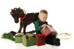 Natal da abertura fotografia de stock