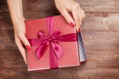 Natal da abertura ou presente do dia de Valentim Imagens de Stock Royalty Free