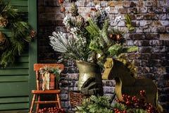 Natal da casa da exploração agrícola para os feriados Fotos de Stock