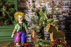 Natal da casa da exploração agrícola para os feriados Imagens de Stock Royalty Free