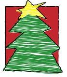 Natal da criança - árvore de Natal Fotos de Stock Royalty Free
