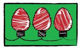 Natal da criança - luzes vermelhas Ilustração do Vetor