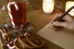 Natal da escrita da mão Imagem de Stock Royalty Free
