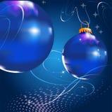 Natal da esfera do fundo Foto de Stock Royalty Free