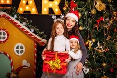 Natal da espera da família Imagens de Stock