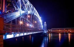 Natal da ponte de St Petersburg em St Petersburg Imagens de Stock