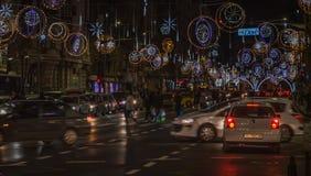 Natal de Bucareste que ilumina 2016 Foto de Stock