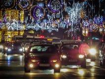 Natal de Bucareste que ilumina 2016 Fotografia de Stock Royalty Free