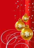 Natal. Decorações do ouro Fotografia de Stock Royalty Free