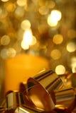 Natal - detalhe dourado mim Foto de Stock Royalty Free