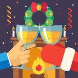 Natal do ano novo com Santa Claus Celebration Fotos de Stock Royalty Free