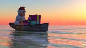 Natal do barco ilustração stock