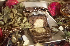 Natal do bolo de mármore Fotos de Stock