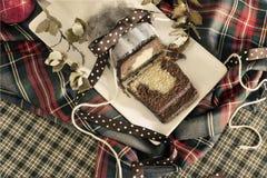 Natal do bolo de mármore Imagem de Stock Royalty Free