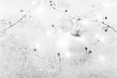 Natal do branco Fotos de Stock