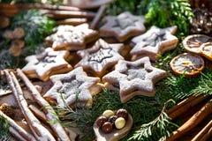 Natal do chocolate e das cookies foto de stock